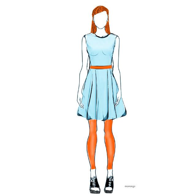 #creative #artistic #fashion #dress #mydesign #drawing