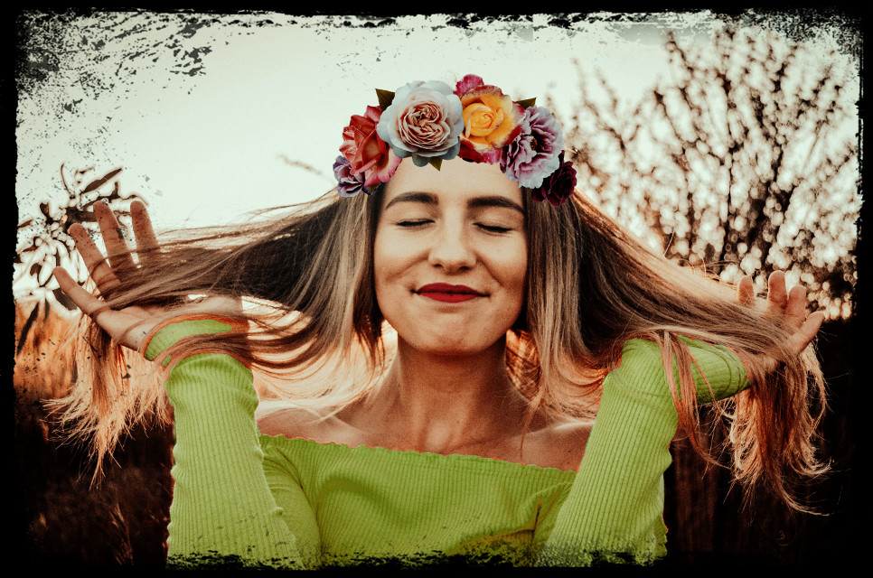 #freetoedit  #flower #girl #hair