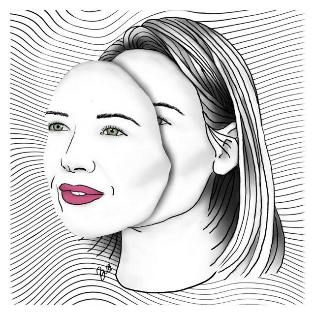 #portrait #surreal #mask #drawing #annatorv