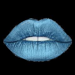outline outlines lips blue remix