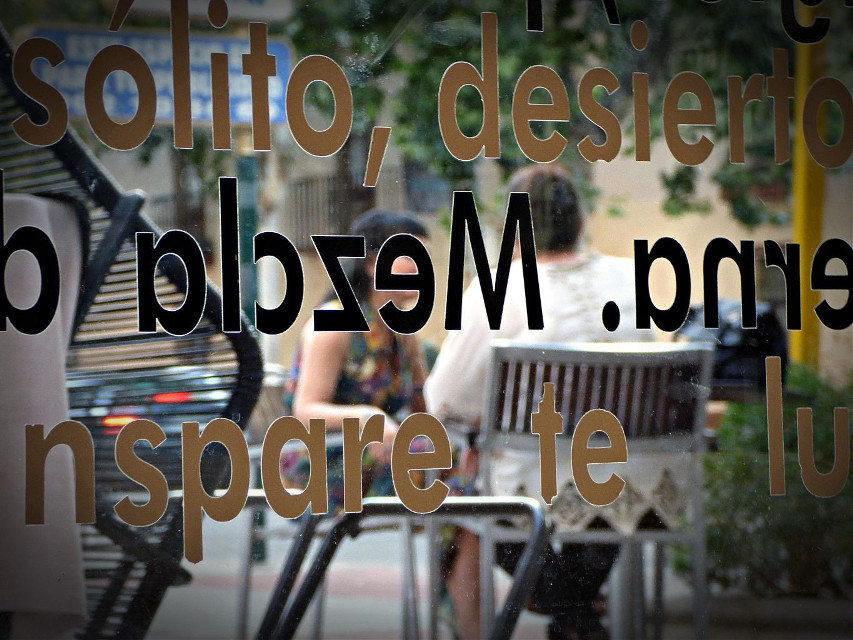 #cafe #coffee #street #people #letters