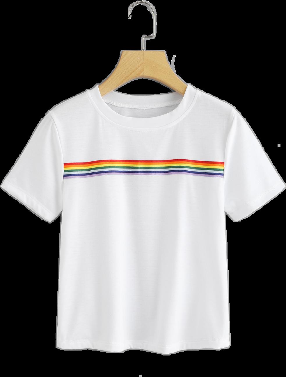 rainbow shirt tshirt top clothes white pride