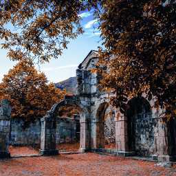 ruins monastery old travel place freetoedit