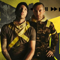 twentyonepilots yellow trench topisback freetoedit