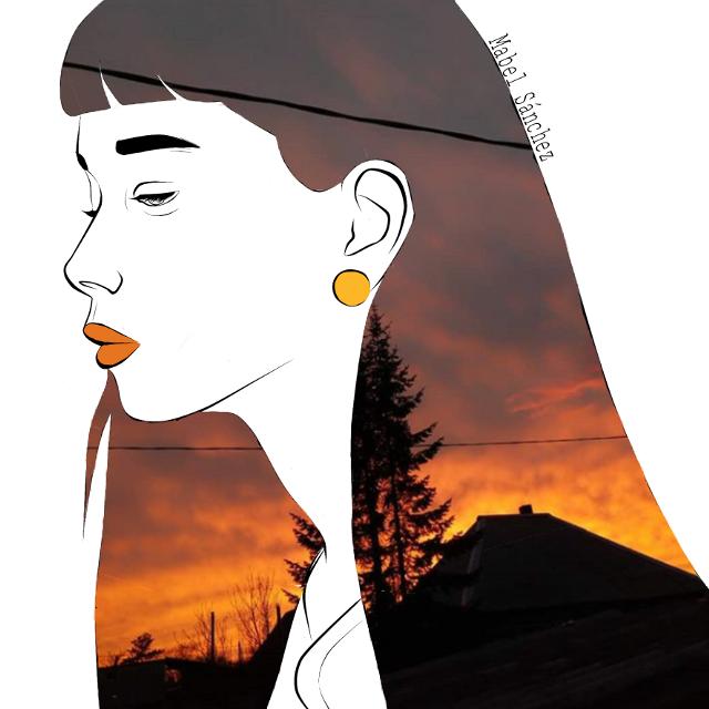#freetoedit #hair #remixit #girl #beauty #beautiful #orange #longhair #art #drawing