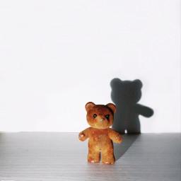 freetoedit shadows teddybear tiny toy