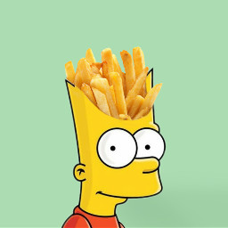 bartsimpson thesimpson fries chips freetoedit ircfrenchfries