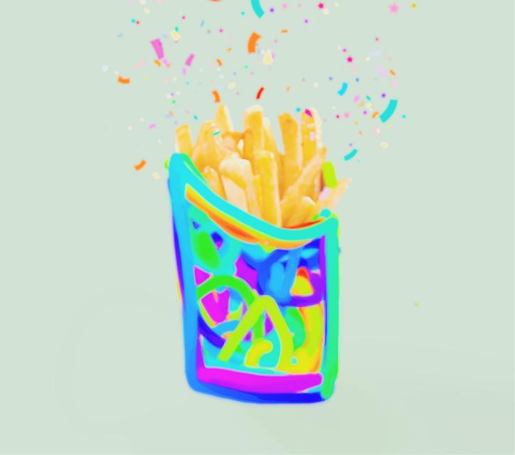 #freetoedit #fries #confettibrush