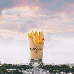 toureiffel eiffeltower french fries france freetoedit irceiffeltower