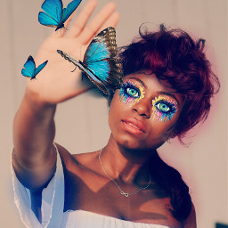remix butterfly eyes freetoedit