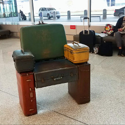 pcchair suitcases chair airportart indianapolis freetoedit