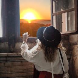 freetoedit sun sunset sunrise girl