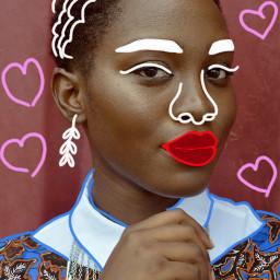freetoedit remix picsart draw beautifulwoman