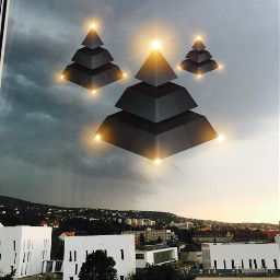 ufo window sighting madewithpicsart pyramids freetoedit
