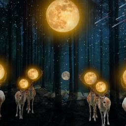 freetoedit forest moons deers ircmoonday
