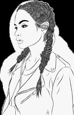 girl art drawing tumblr freetoedit