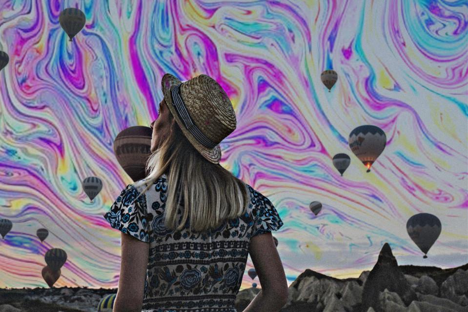 #freetoedit #holographicsky #holographic #hotairballoons #hotairballoon #globosaeroestaticos