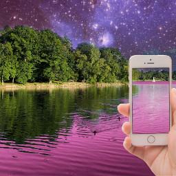 freetoedit sky iphone picsarts pink