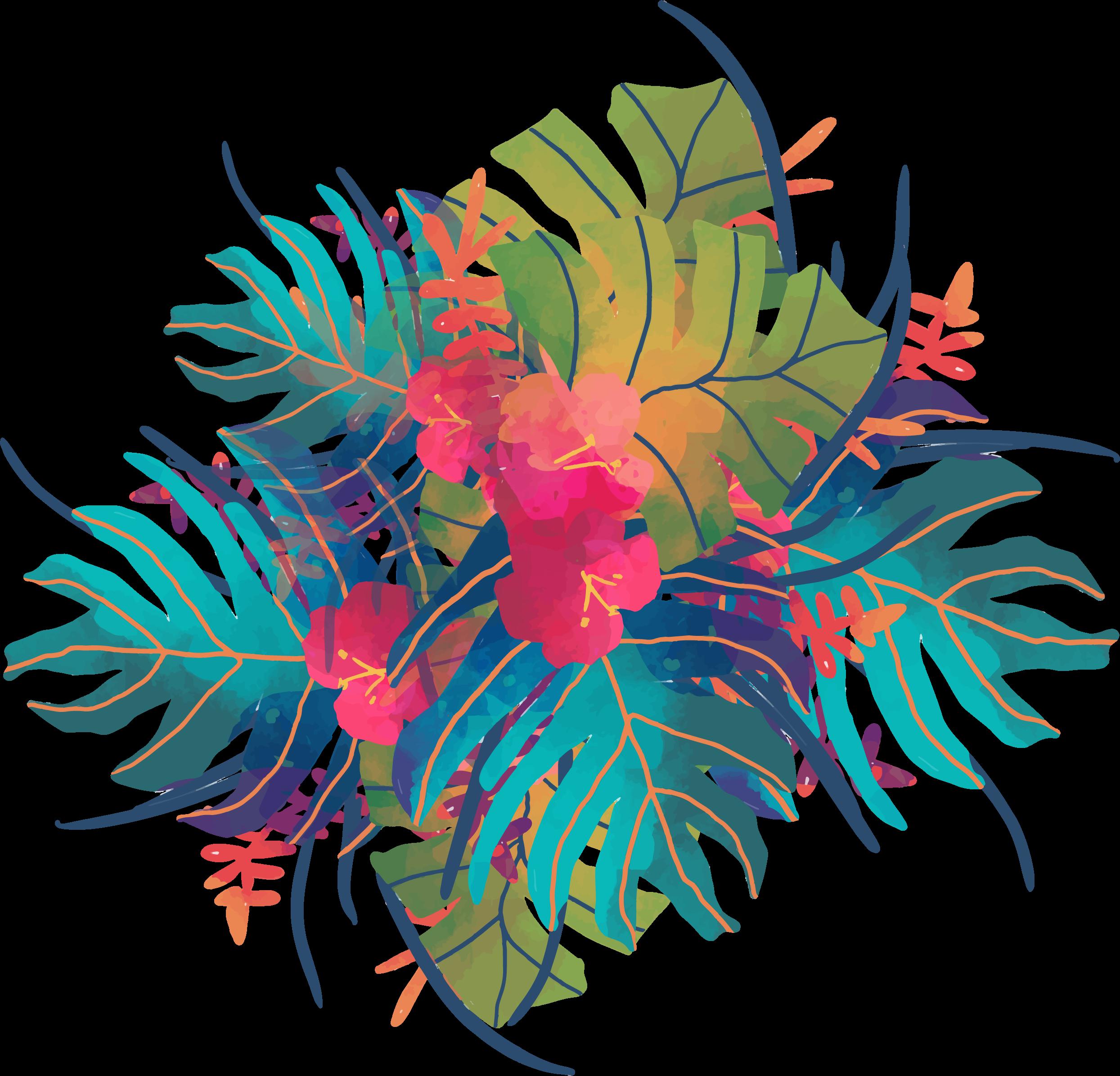 ftestickers floral tropicalflower greenery...