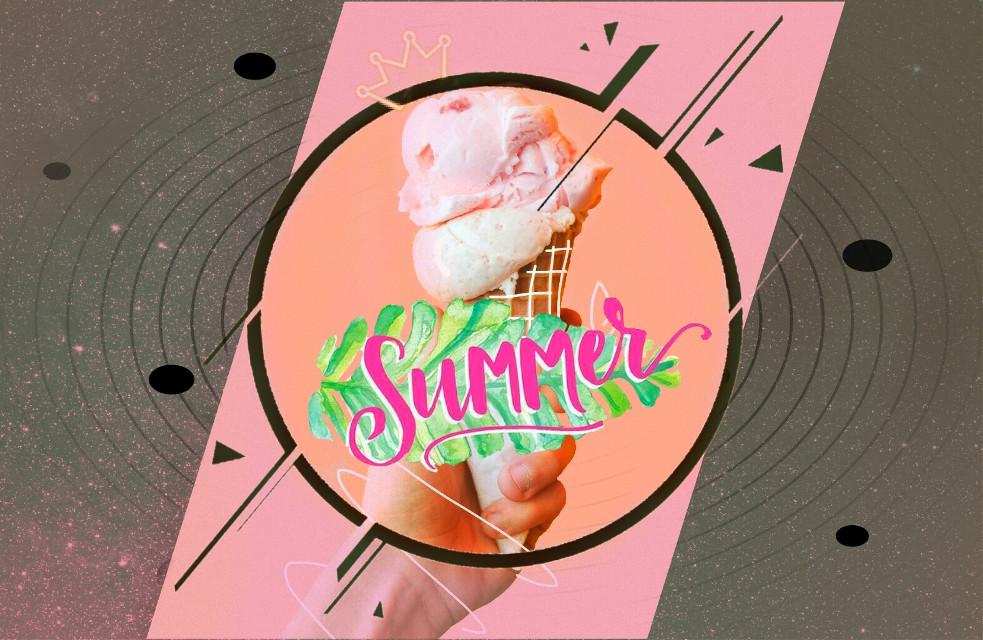 #freetoedit #remix #icecream #food #pink #summer #picsarteffects
