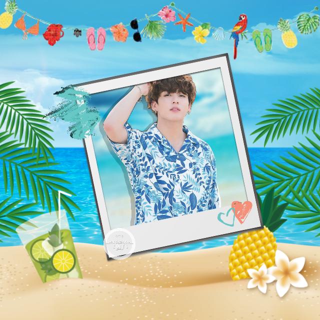 This is my second entry for the kpop fanart challenge! 🌺 @kconusa @picsart   #jungkook #btsjungkook #bts #summer #kpop  #eckpopfanart #KCON18LA #picsart #jeonjungkook #jeongguk #jeonjeongguk #beach #sea