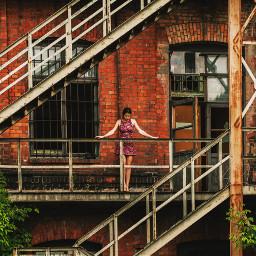 freetoedit urbexphotography dress brunette model