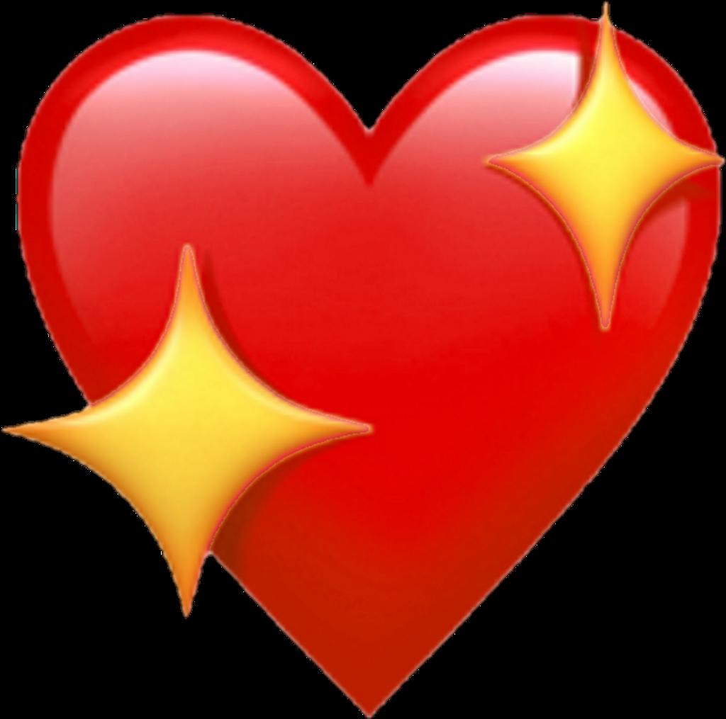 Emoji Cœur Heart Apple Sticker By