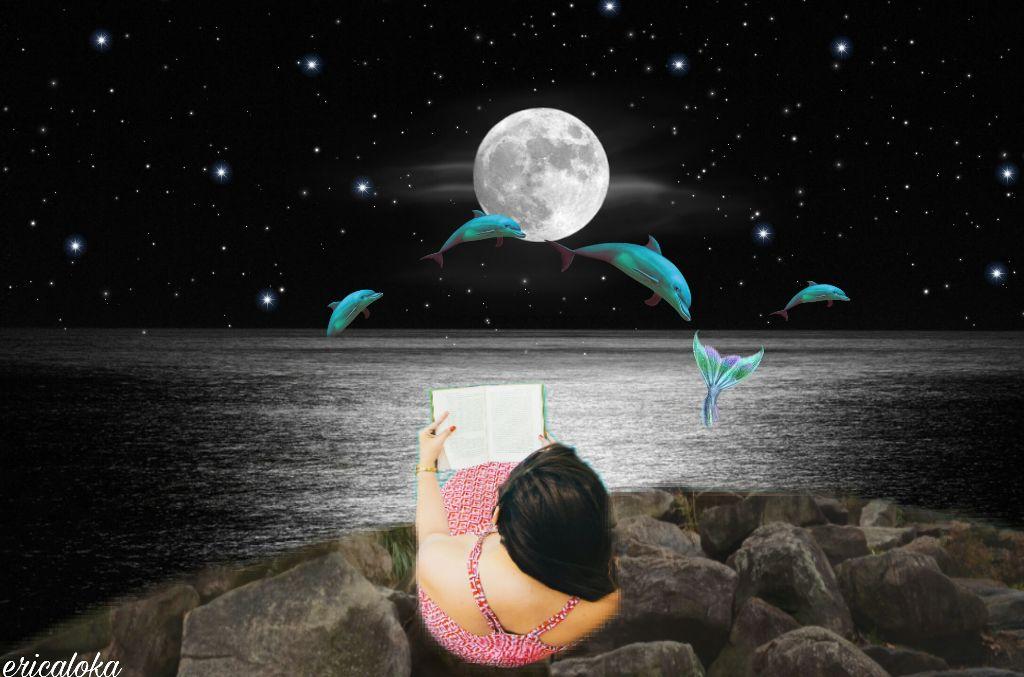 #freetoedit #moon #madewithpicsart  #remixit  #stars  #picsart #girl #surreal  #water  #dolphins  @ericaloka  #ircpoolsidereading