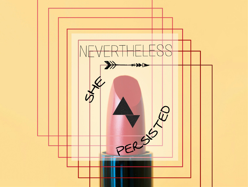 #freetoedit #simple #minimalist #yellow #red #lipstick #feminist #feminism #neverthelessshepersisted  -- Going back to an older editing style of mine....