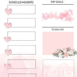 freetoedit pink weekly planner event schedule