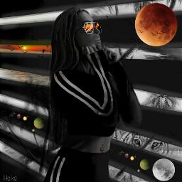 freetoedit mars surreal blackandwhite fantasy