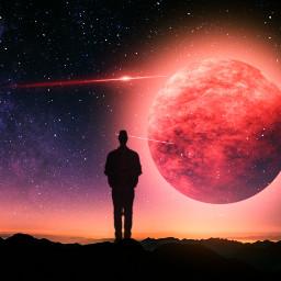 freetoedit mars redplanet silhouette