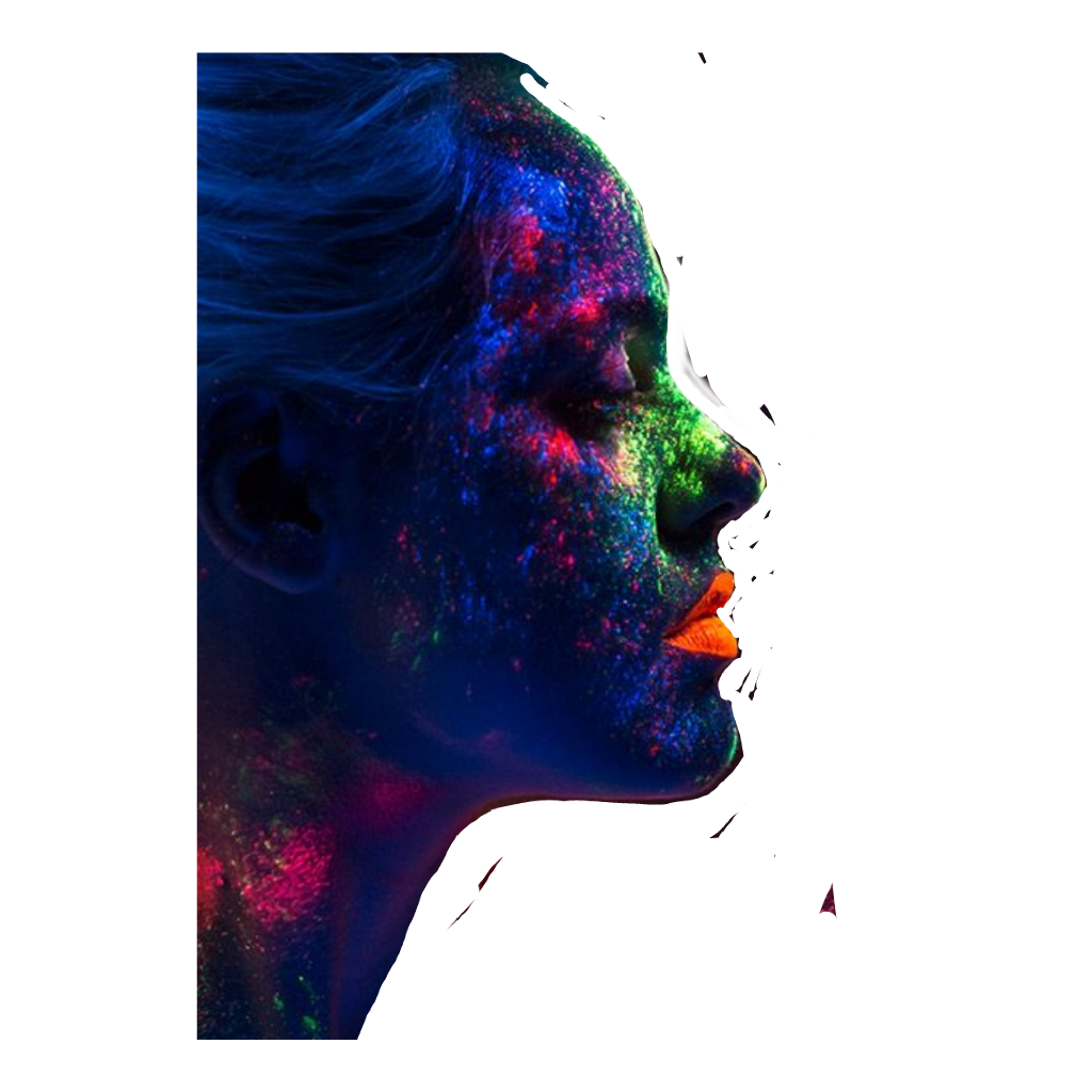 Abstract Color Face Sticker By Marcia