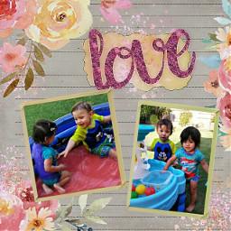 twins love babies scrapbooking happy freetoedit