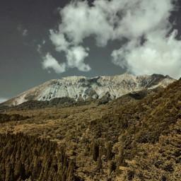 mountain mountainview sky retrofilter freetoedit