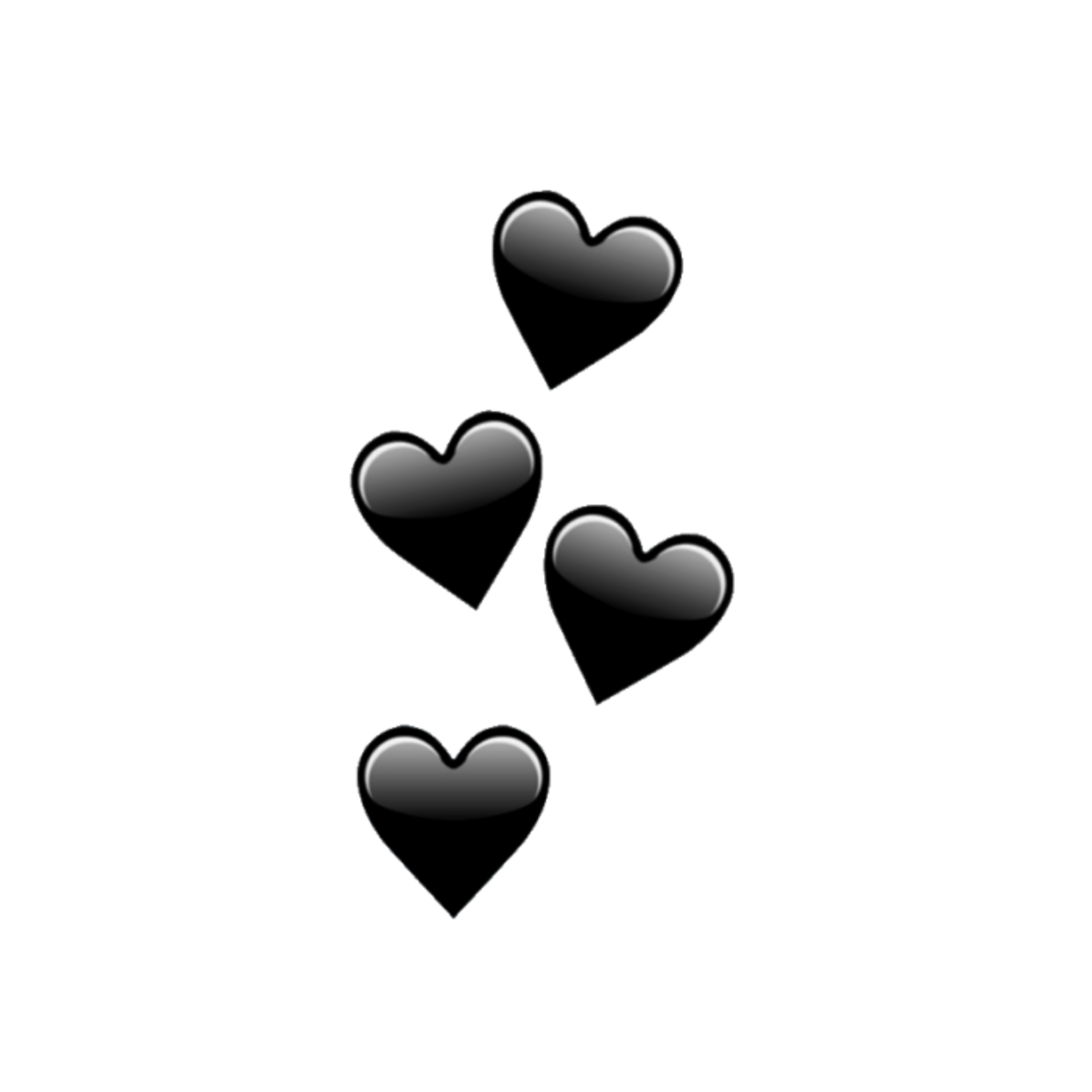 Black Heart Emoji Wallpaper
