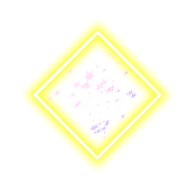 #geometric #square #frame #neon #yellow #glitter #stars