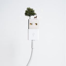 freetoedit remixit usb tree green
