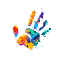 ftestickers hand handprint paint colorful