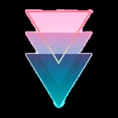 ftestickers geometricshapes triangles pattern gradientcolors freetoedit