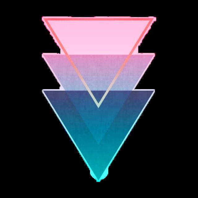 #ftestickers #geometricshapes #triangles #pattern #gradientcolors #poparteffect