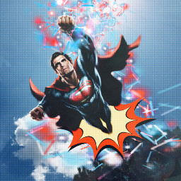 cartoon superman spottedeffect papergrunge freetoedit srcenergy