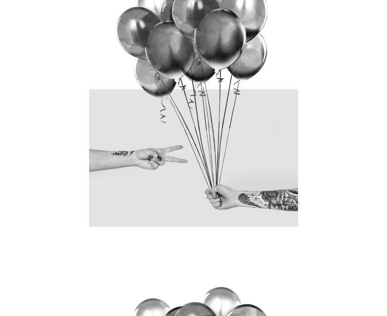 #freetoedit #balloons #blackandwhite #border