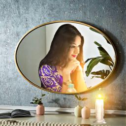 freetoedit girl mirror caldle light