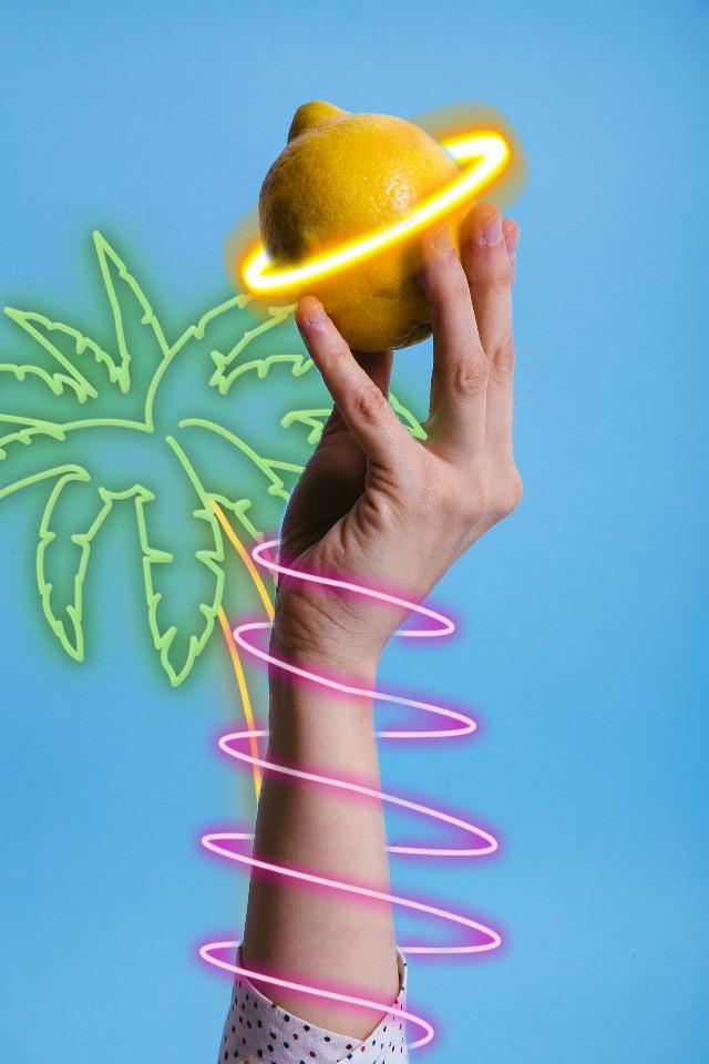 #freetoedit #lemonade #neon