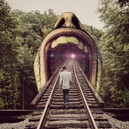 freetoedit railroad railroadtracks surreal twilighteffect