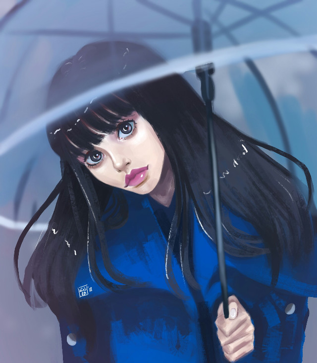 Follow me on instagram: kubramuderris #freetoedit #art #digitalart #digitalpainting #illustration #drawing #girl #rain