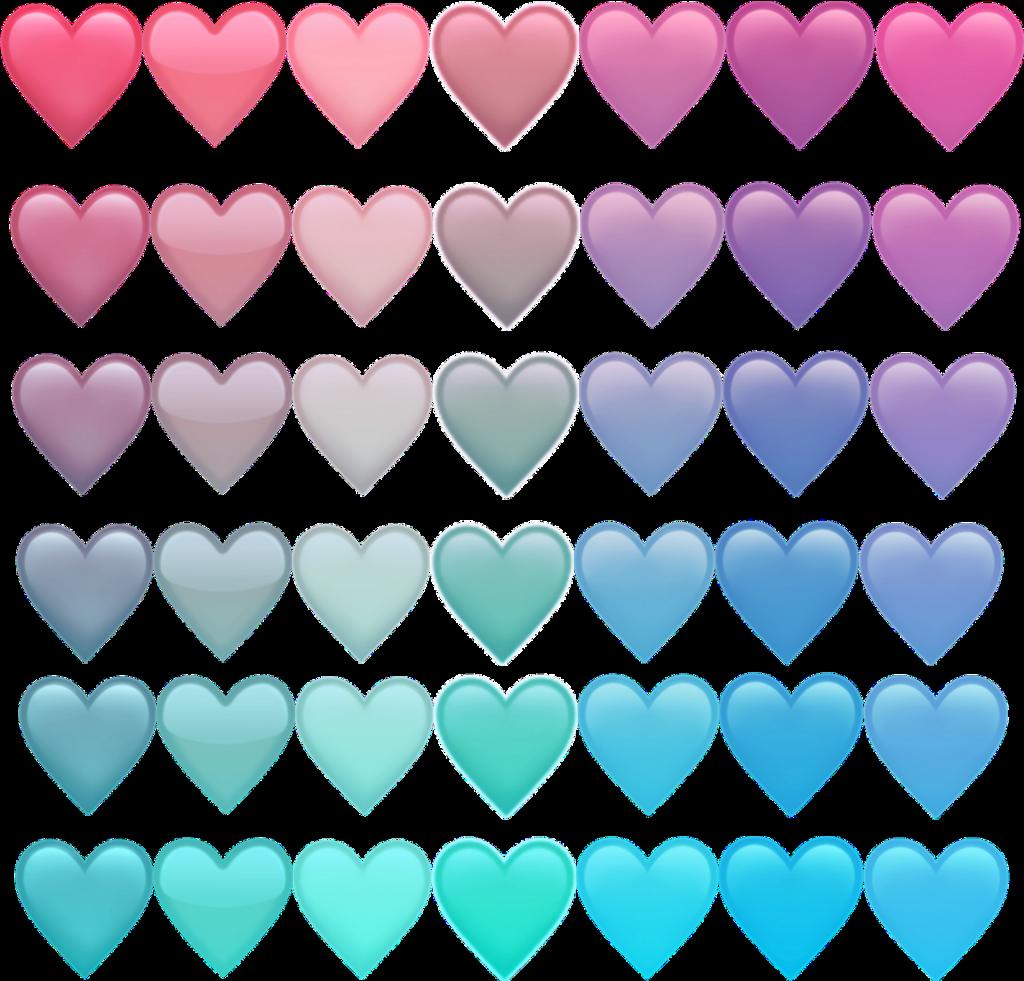 Emoji Cœur Heartapple Bleu Blue Pink Rose Violet Purple