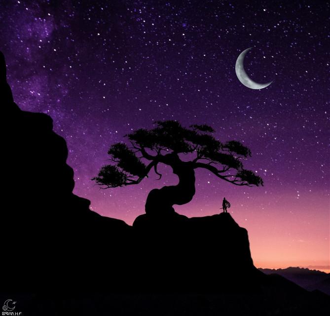😀 Pueden votarme en el desafio de remix de imagen meteoro majestuaso 😀 . . #freetoedit #atardecer #amanecer #noche #estrellas #siluetas #arbol #bonsai #ninja #violeta #luna #gllaxia #espacio #universo #picsart @brian_galaxy  #ircmajesticmeteor