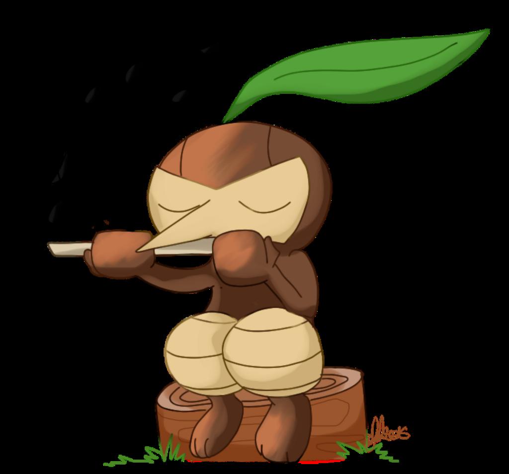 Pifeuil Pokemon Plante Happy